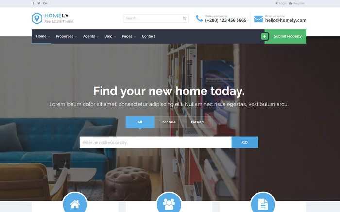 Homely Responsive Real Estate WordPress Theme