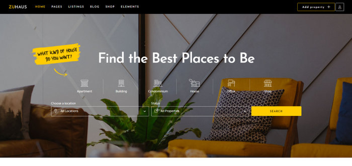 Modern Real Estate and Rental Theme