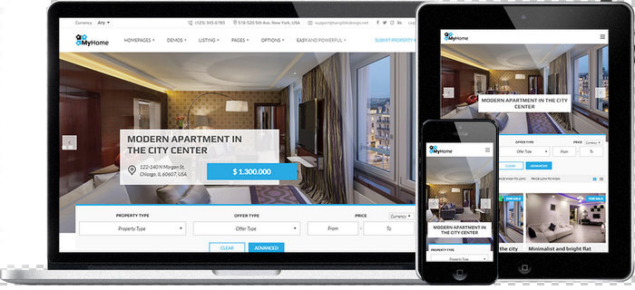 MyHome Real-Estate-WordPress-Theme