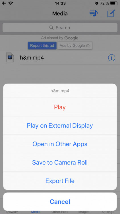MyMedia How to save a video from facebook to your phone