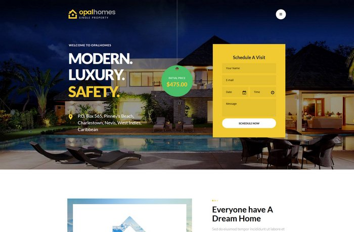 Opalhomes Single Property WordPress Theme