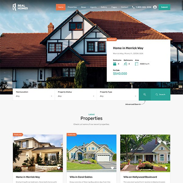 Real Homes WP Theme Real Estate WordPress Theme