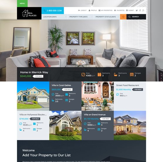 Real Places WordPress Real Estate Theme
