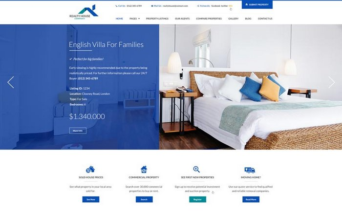 Realty House WordPress Theme