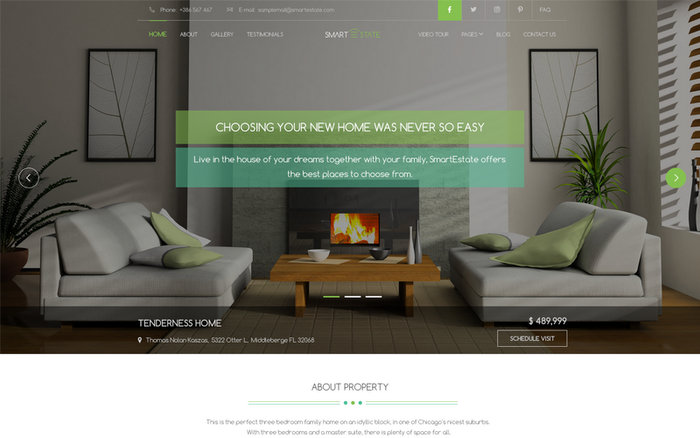 Smart Estate Single Property WordPress Themes