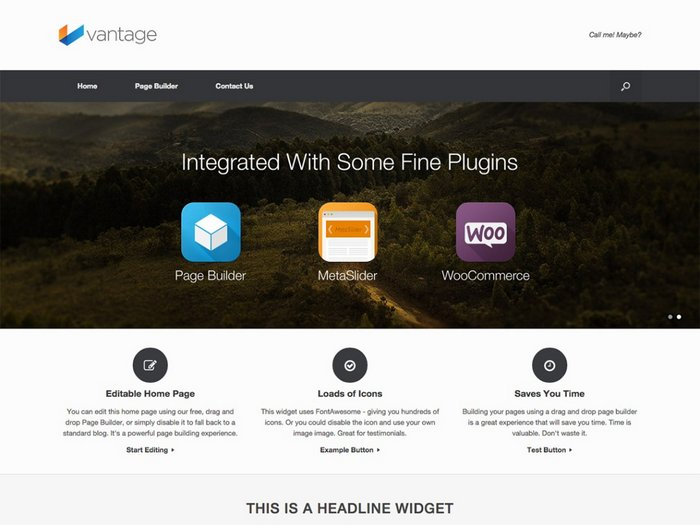 Vantage Free Business Theme