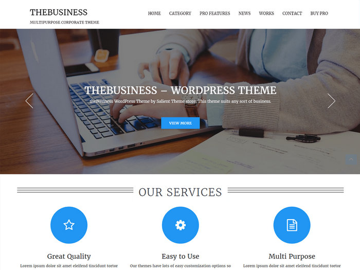 thebusiness Free WordPress Theme