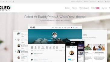 BuddyPress WordPress Themes KLEO-Template