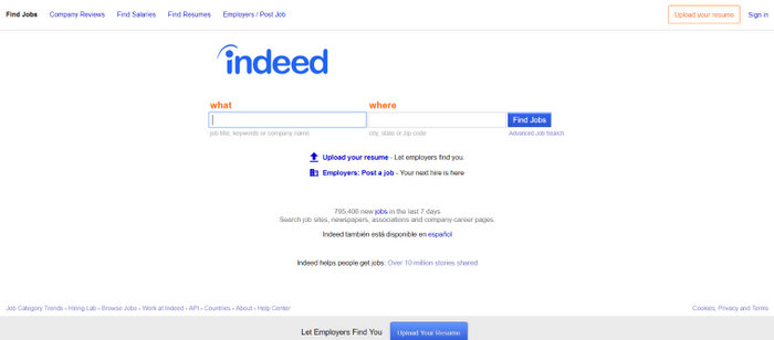 Indeed job search engines