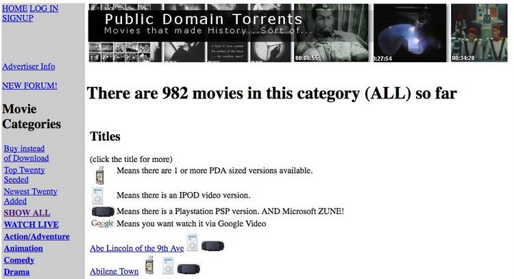 Public Domain Torrents Free Legal Torrent Sites