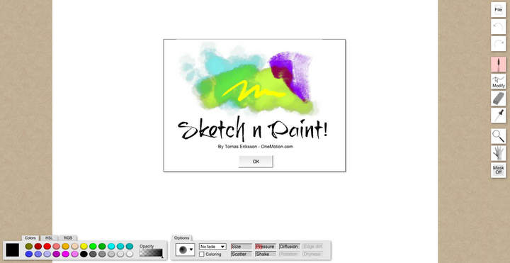 Sketch Paint OneMotion Online Paint Tool