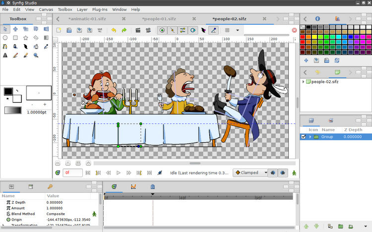 Synfig Studio free open source2d animation software