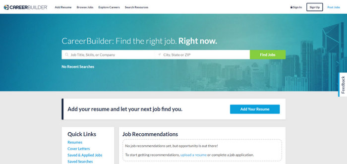 job search sites CareerBuilder top job websites