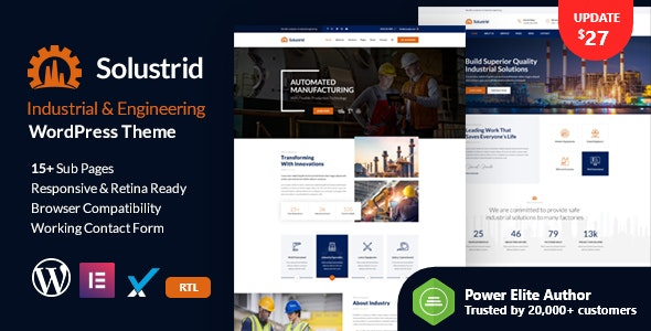 Best Industrial Business WordPress Themes
