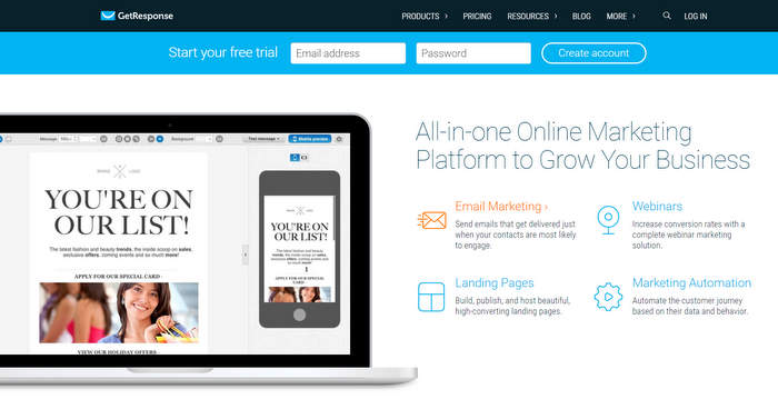GetResponse Email Marketing Software for Email List Management