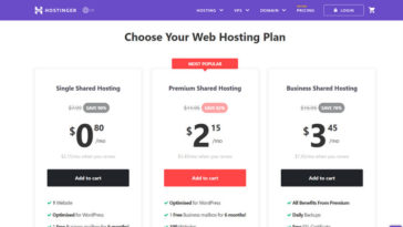 Hostinger Cheap Web Hosting