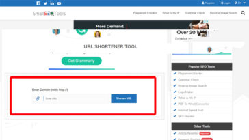URL Shortener tool by SmallSEOTools