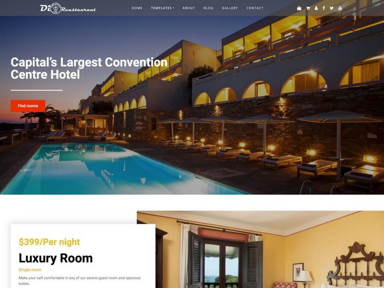 Free Hotel WordPress Theme