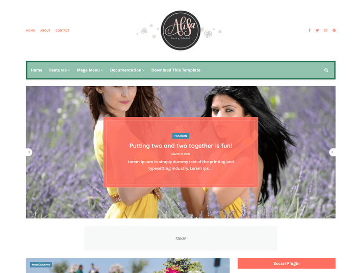 Alisa Free Blogger Template