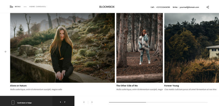 Bloombox Photography WordPress Theme