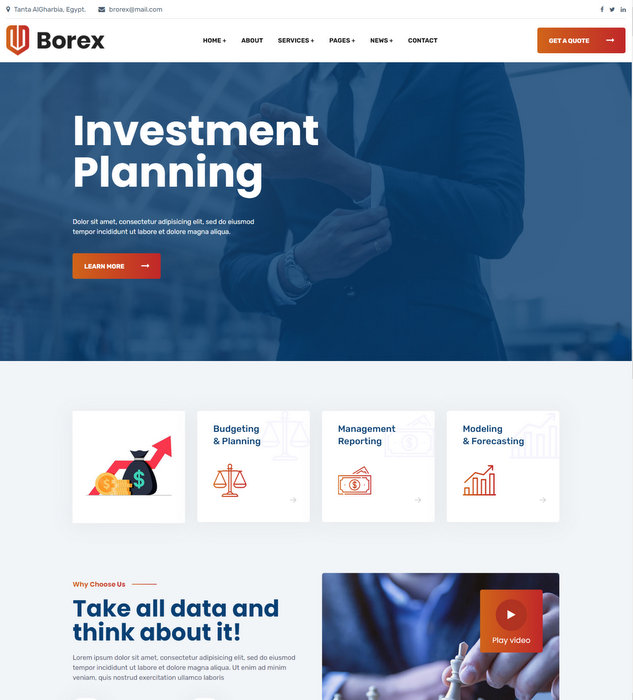 Borex Finance Business Drupal Theme