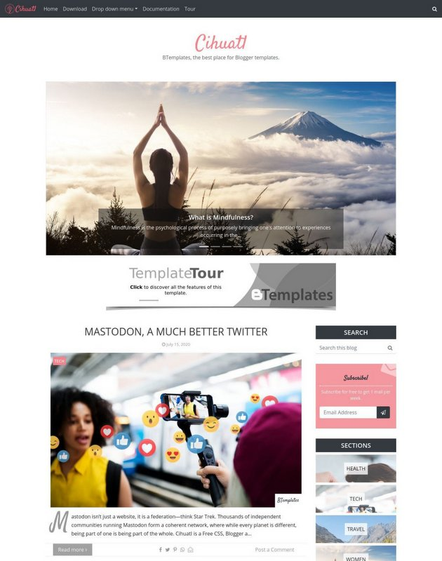 Cihuatl Free Blogger Template
