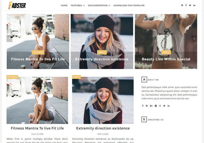 Fabster Free Grid Blogger Template