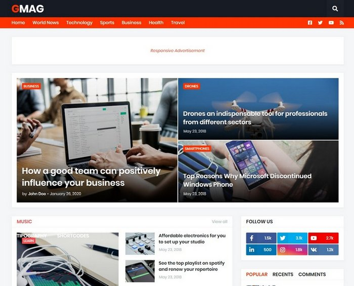 GMag Blogger Template