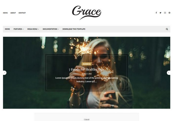 Grace Blogger Template