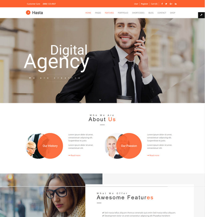 Hasta Responsive Commerce Theme