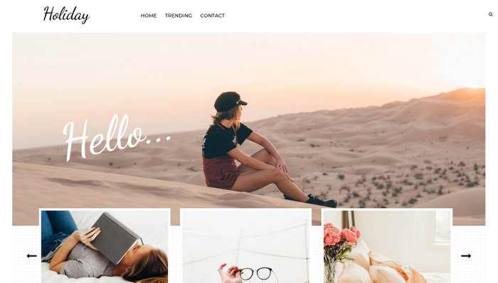 Holiday Travel Responsive Blogger Template