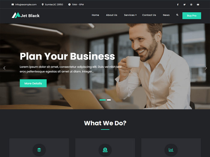 JetBlack Free WordPress Theme