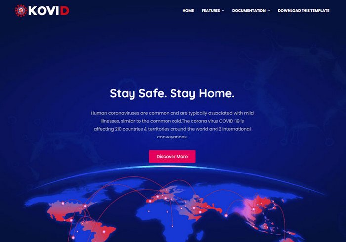 Kovid One Page Free Blogger Template