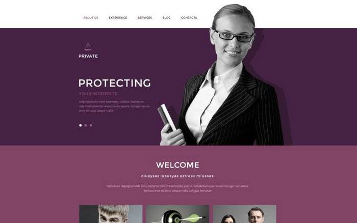 Law Office premium Drupal theme