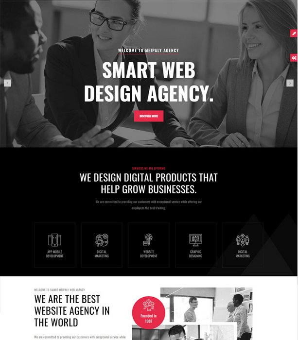Meipaly Digital Agency Drupal 9 Theme