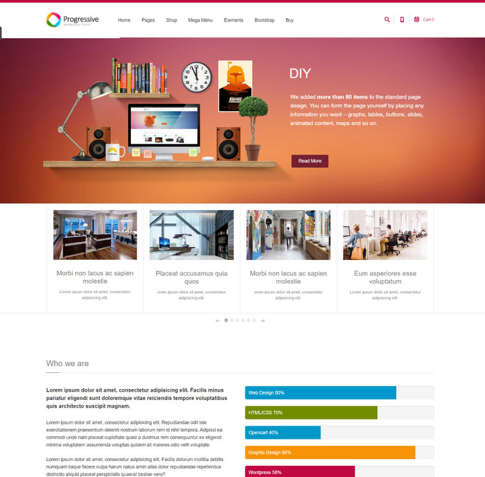 Progressive Multipurpose Drupal Theme