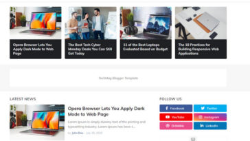 TechMag Free Blogger Template