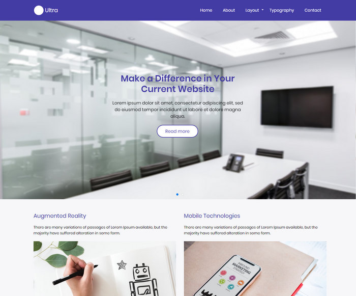 Ultra Drupal Free Business Theme