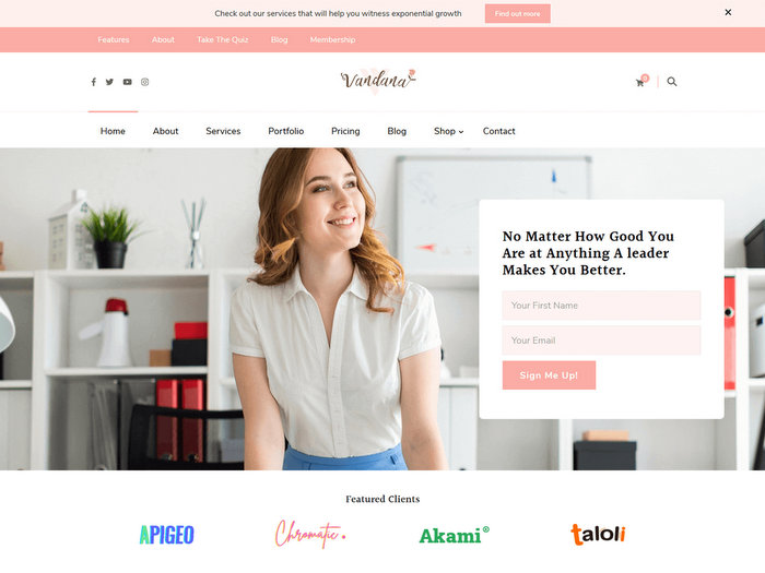 Vandana Lite Free Business WordPress Theme