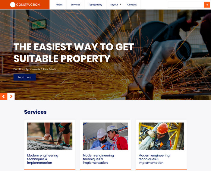 Zymphonies Construction Free Business Drupal Themes