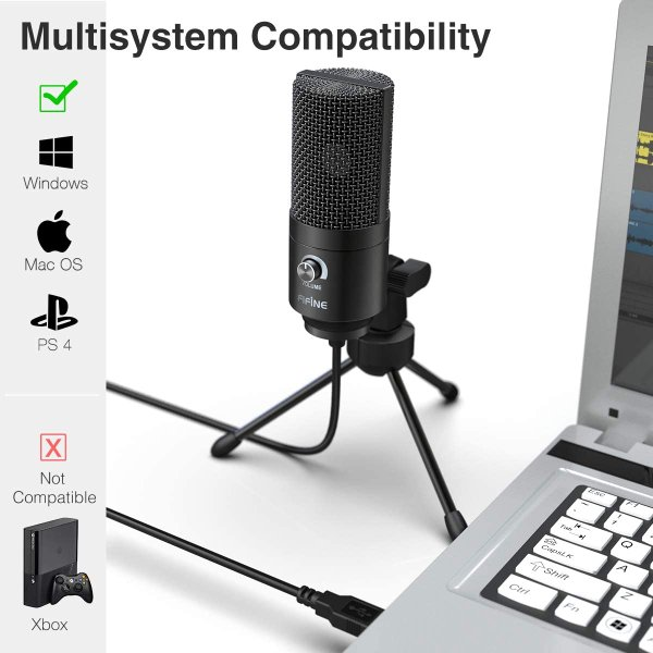 Fifine Metal Condenser Recording Microphone