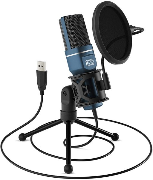 TONOR Computer Condenser PC Mic with Tripod Stand