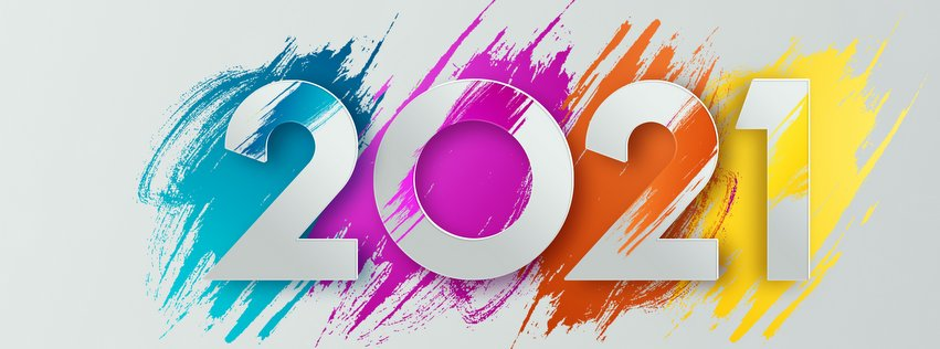 Creative luxury 2021 design, new year flyer, 2021 multicolored lettering on light background. Concept for new year banner, website header, modern typography. 3D illustration, 3D render.