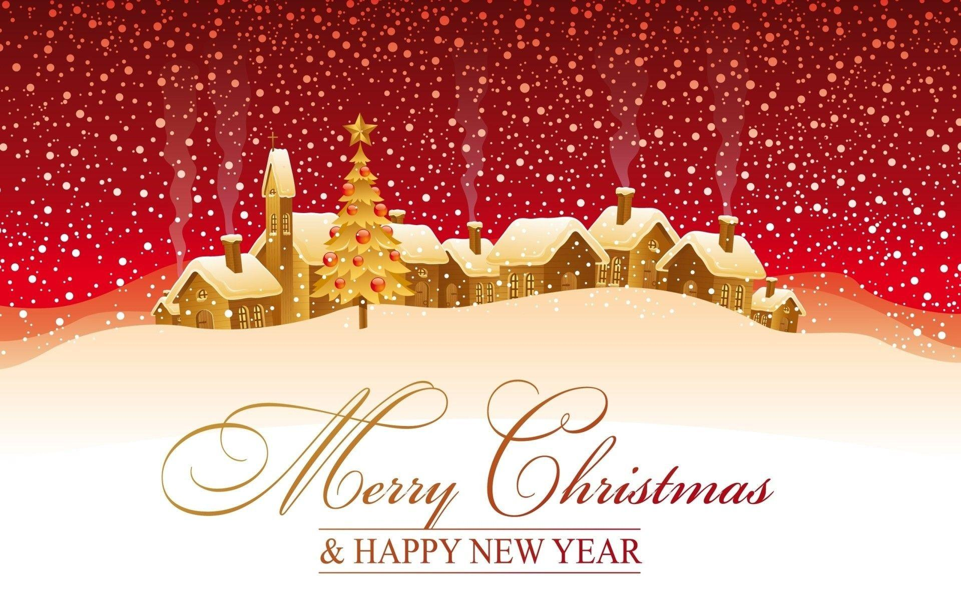 Christmas and Happy New Year Background 1920x1200