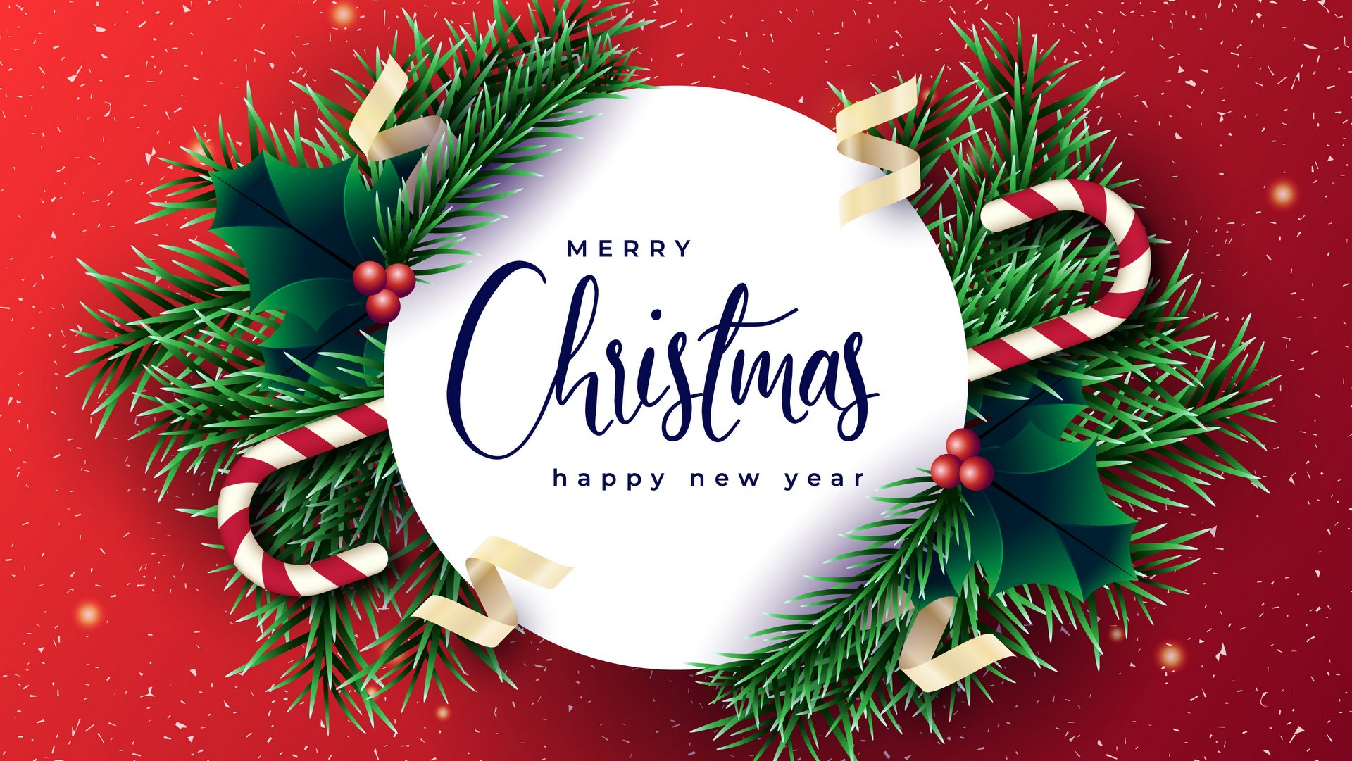 Merry Christmas and Happy New Year Background 1080p