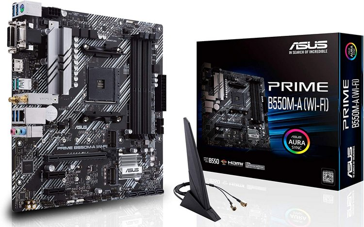 ASUS Prime B550M-Motherboard with WiFi