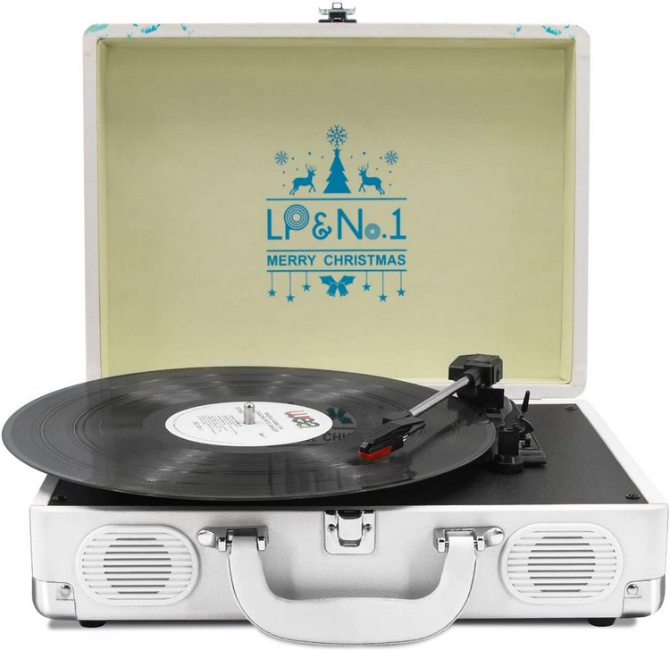 LP-No1 Suitcase Bluetooth Turntable with Stereo Speaker