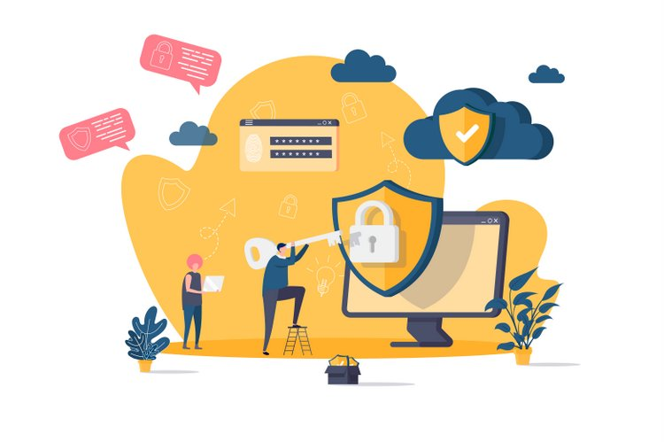 Cyber security protection concept