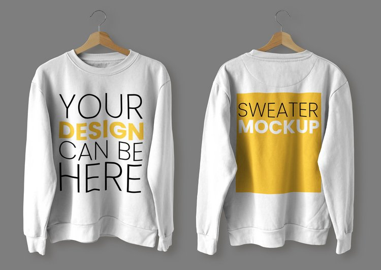 Sample Sweater Mockup Front and Back